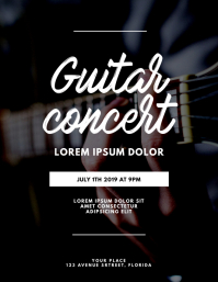 Guitar Concert Flyer Template