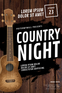 Guitar Country Event Flyer Template Poster