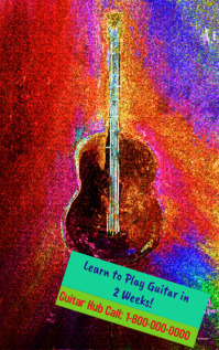 Guitar Poster for Music Lovers