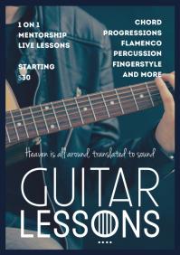 guitar A4 template