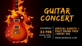 Guitar Event Facebook Cover Video Template