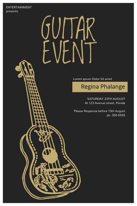 Guitar Event Flyer Template