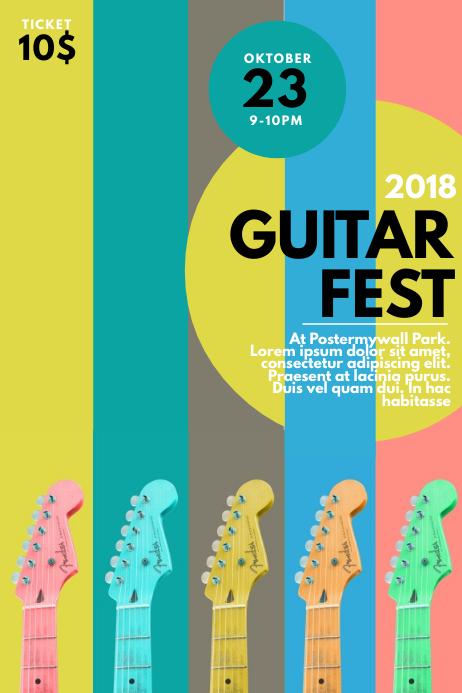 Guitar Festival Event Flyer Template