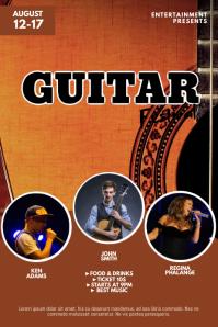 Guitar Festival Flyer Template Poster