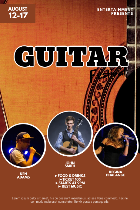 Guitar Festival Flyer Template Poster