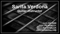 Guitar Instructor Business Card template