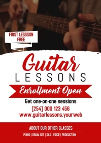 GUITAR LESSON A4 template