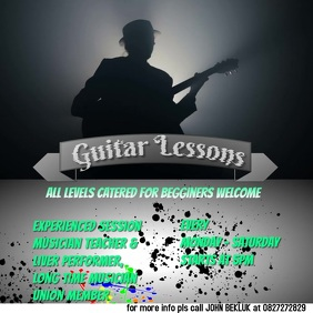 guitar lesson flyers