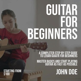 guitar lesson poster