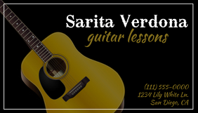 Guitar Lessons Business Card นามบัตร template