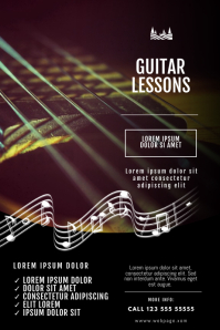 Guitar Lessons flyer Design template