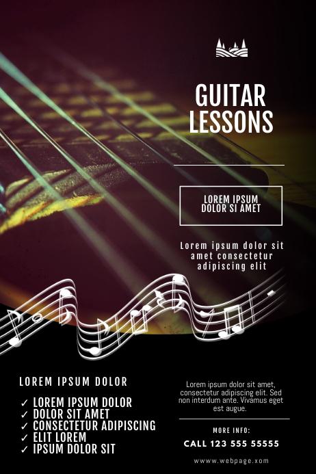 Guitar Lessons flyer Design template