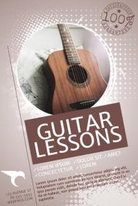 guitar-lessons-flyer-template-7f75945ae683718f86125f4e6e7bcf29 Teacher Letter Template on