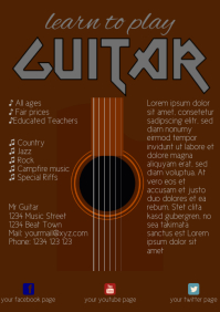 Guitar lessons Flyer Template