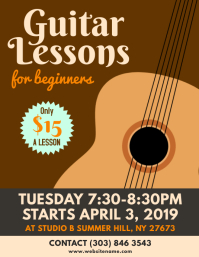 Guitar Lessons Flyer