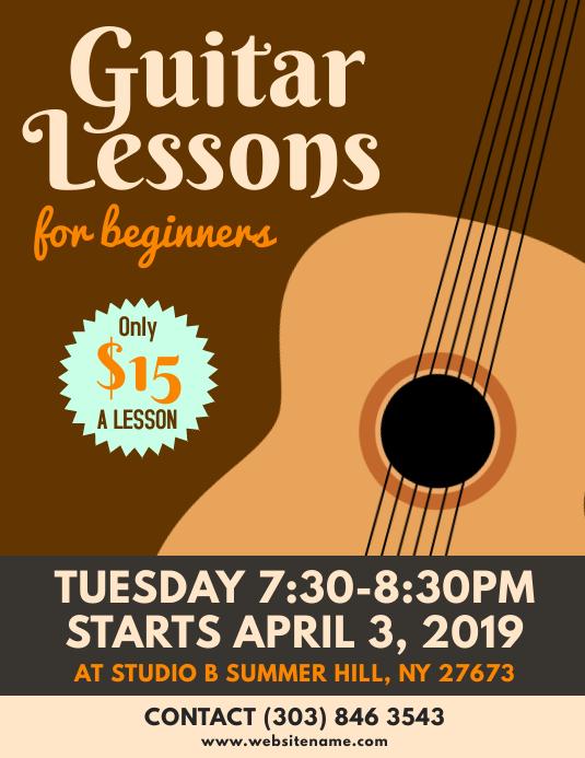 Guitar Lessons Flyer
