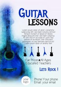 Guitar Lessons Flyer Template Music TEacher