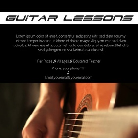 Guitar lessons instagram template ad video