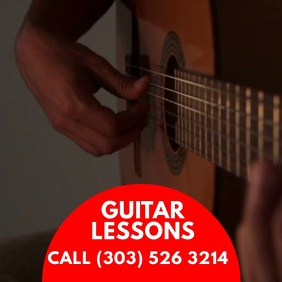 Guitar Lessons Message Instagram template