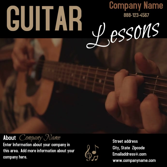 Guitar Lessons Pos Instagram template