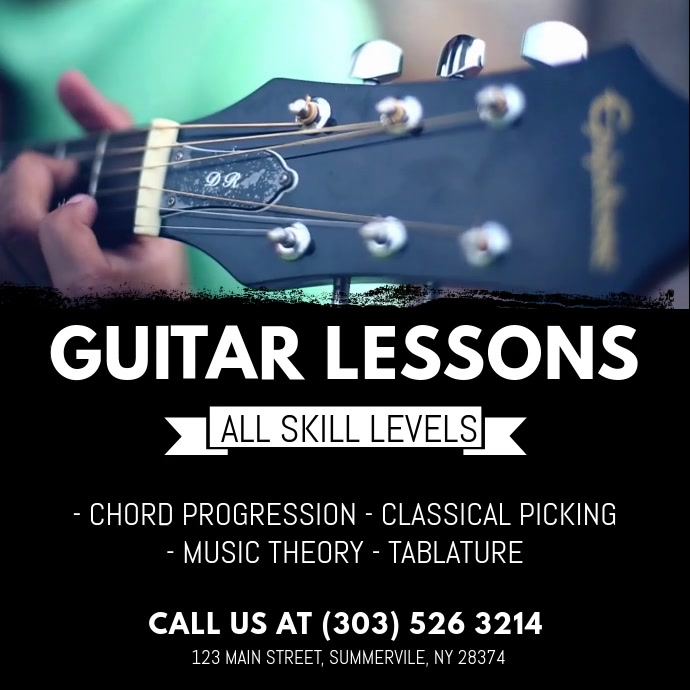 Guitar Lessons Instagram 帖子 template