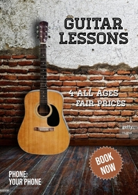 Guitar lessons template