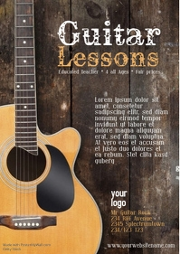 guitar lessons template flyer