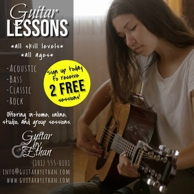 Guitar Lessons Video Square (1:1) template