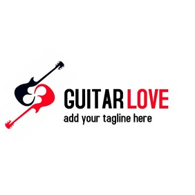 Guitar love music logo