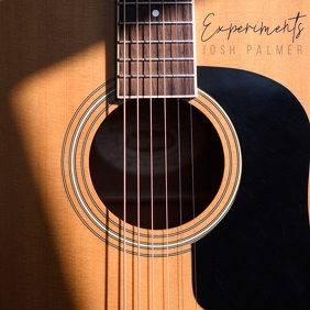 Guitar Photo Indie Album Song Cover Art template