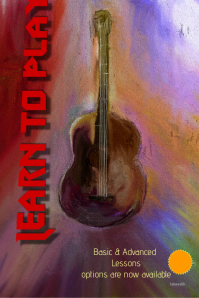 Learn to Play Guitar..custom Poster