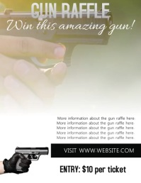 Gun Raffle Flyer Template