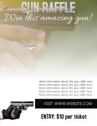 Gun Raffle Flyer Template Volante (Carta US)