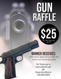 Gun Raffle Flyer Template