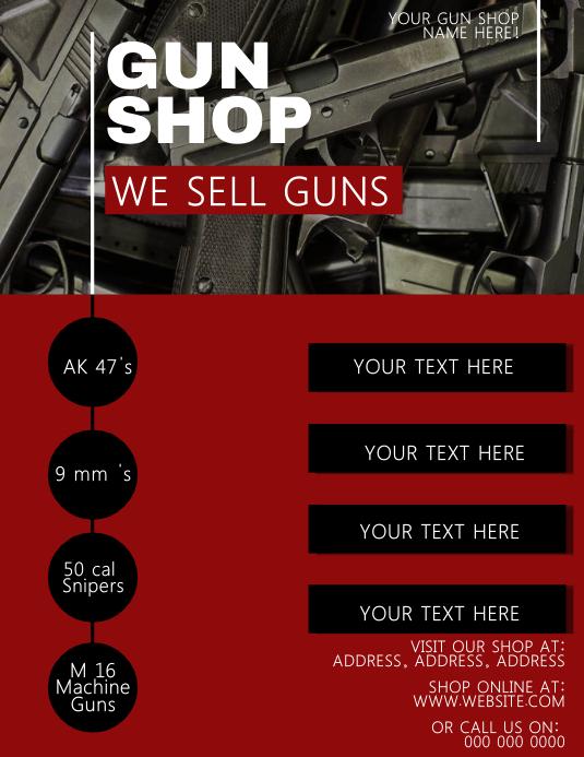 Gun Shop Flyer Template