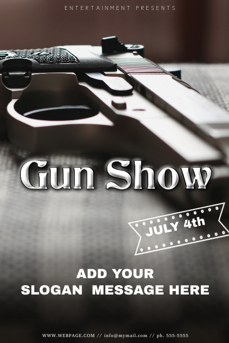 Gun Show Flyer Template