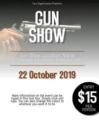Gun Show Flyer Template ใบปลิว (US Letter)