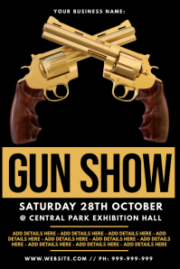 Gun Show Poster โปสเตอร์ template