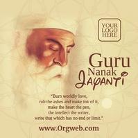 Guru Nanak Jayanti Post Template Instagram-opslag
