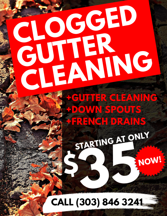 Gutter Cleaning Flyer Template Postermywall