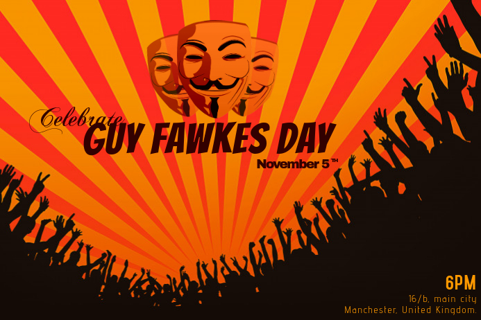 Guy Fawkes Poster Template