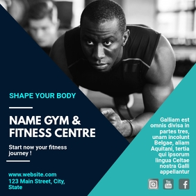 Gym & fitness centre instagram post advertise template