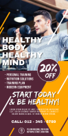 Gym & Health Roll up Banner
