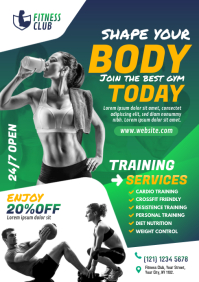 Gym | Fitness Center Flyer Template