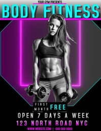 GYM AD DIGITAL VIDEO TEMPLATE FLYER