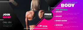 Gym Ad Facebook Cover Photo template