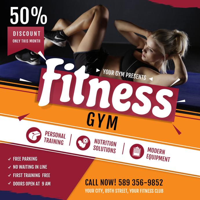 Gym Ad Instagram Size
