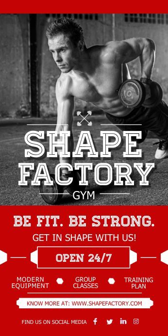 Gym Ad Roll up Banner
