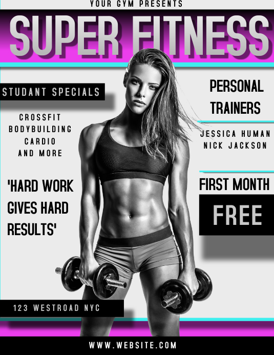 GYM AD TEMPLATE FLYER