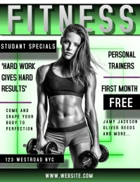 GYM AD VIDEO FLYER TEMPLATE DIGITAL FITNESS